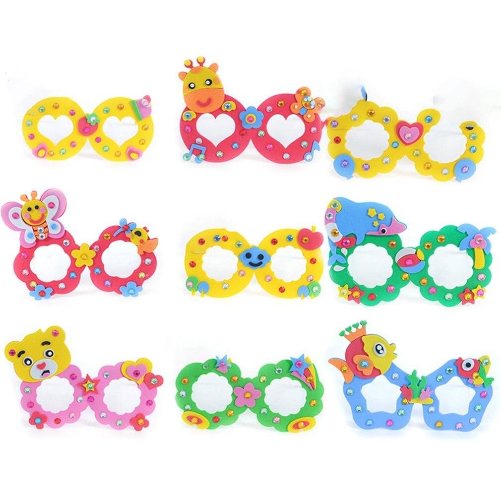 EVA Diamond Glasses Children's DIY Manual Three-dimensional Paste Painting Kindergarten Puzzle Children Toy