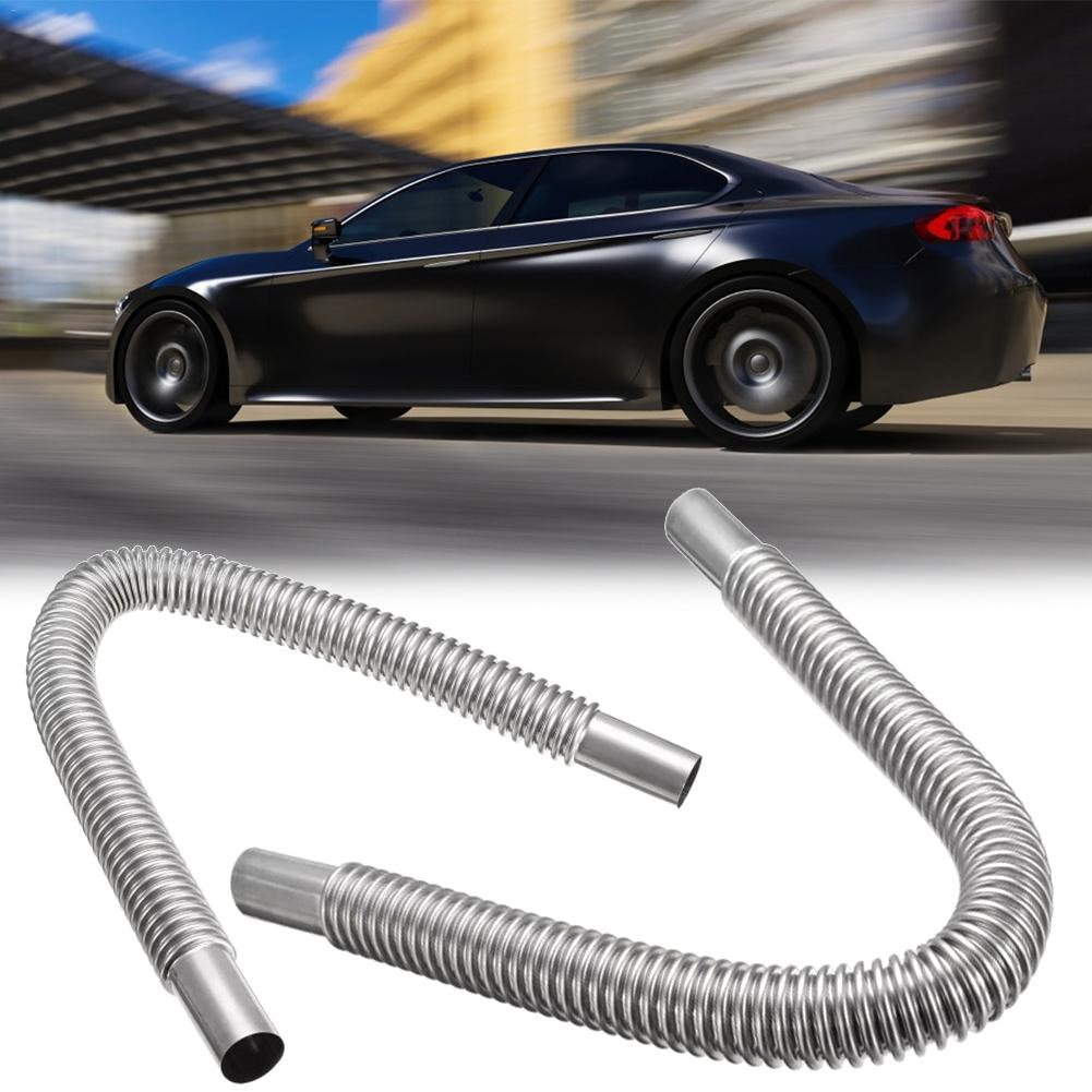 60/120cm Car Auto Stainless Steel Parking Air Heater Waste Gas Exhaust Pipe