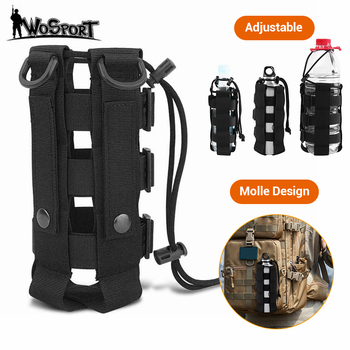Upgraded Tactical Molle Water Bottle Pouch Bag Military Outdoor Travel Hiking Drawstring Water Bottle Holder Kettle Carrier Bag camping sports water bag new outdoor tactical military molle system bottle bag kettle pouch holder