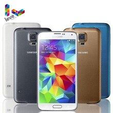 Original desbloqueado Samsung Galaxy S5 I9600 G900F G900A teléfono móvil 5,1