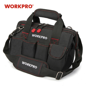 Image 1 - حقيبة أدوات WORKPRO 600D إغلاق واسع الفم حقائب كهربائي S M L XL للاختيار