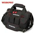 WORKPRO Werkzeug Taschen 600D Schließen Top Breiten Mund Elektriker taschen S M L XL für Wahl-in Werkzeugtaschen aus Werkzeug bei