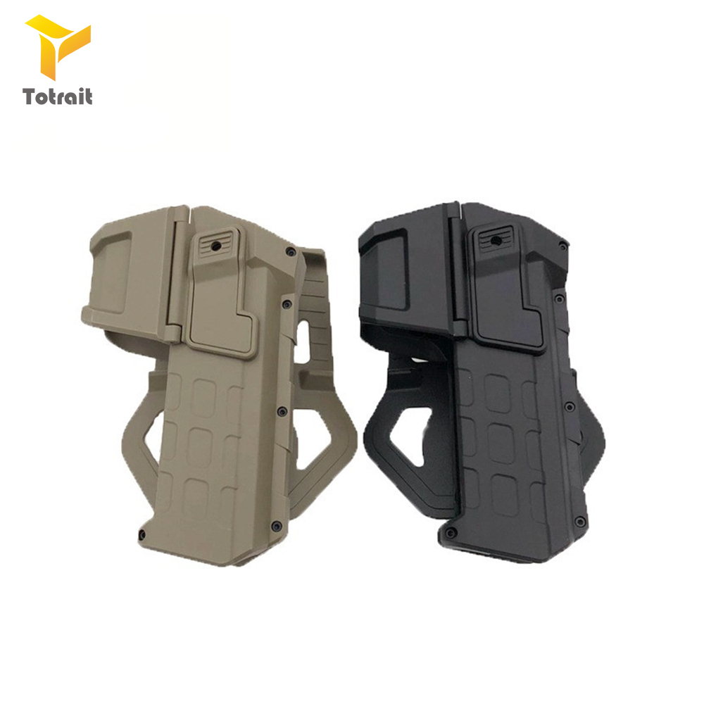 Movable Waist Holster for Colt 1911 Pistol Combat with Flashlight or Laser Mounted Right Hand Tactical Hunting Airsoft Gun Case image