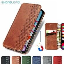 Магнитный кошелек для IPhone 11 Pro XS Max SE 2 2020 XR X 6 6s 7 8 Plus, кожаный флип-чехол, роскошный чехол-книжка с держателем для карт
