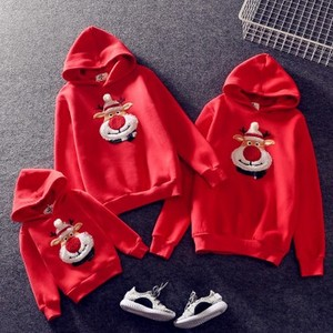 DIHOPE New Family Matching Children Clothing Christmas Sweaters Deer Print Family Parent-child Suit Printing Cotton Sweater
