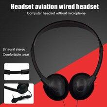 Fone de ouvido de computador montado na cabeça sem microfone jogos fone de ouvido com cancelamento de ruído esportes mp3 fone de ouvido estéreo com fio fone de ouvido universal