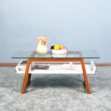 Гостиная комната журнальный стол диван сторона стол с хранения два слоя торцевой стол дом мебель