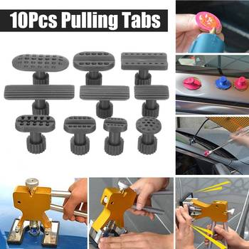 10PCS Car Dent Puller Car Paintless Dent Removal Repair Hail Kits Pulling Tabs for Auto Body Repair Tool Puller Tabs Accessories image