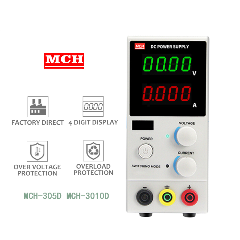 <font><b>MCH</b></font>-<font><b>K305D</b></font> <font><b>MCH</b></font>-K3010D 5A 10A Adjustable Mini Switching DC Power Supply Digital Power Supply Benchtop Supply Power Source image