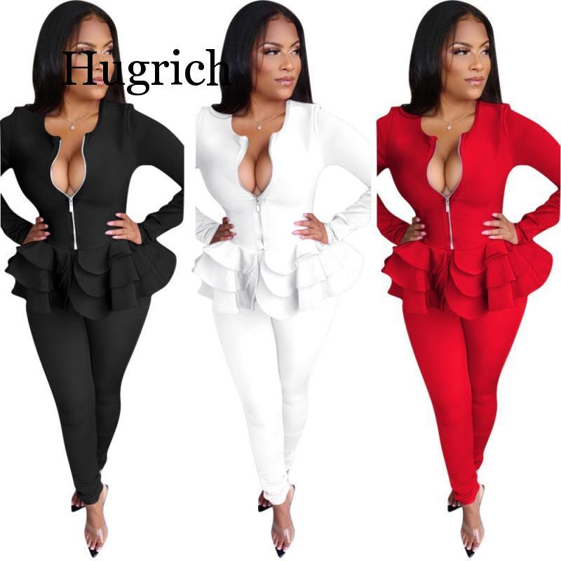 2020 Women's suit two piece set office women long sleeve suit pants 2 piece set female winter two pieces sets