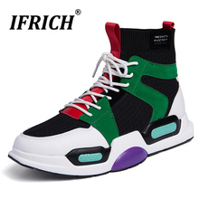 Super Cool Gym Shoes For Men High Top Sock Running Light Weight Walking Sneaker Luxury Brand Athletic Footwear