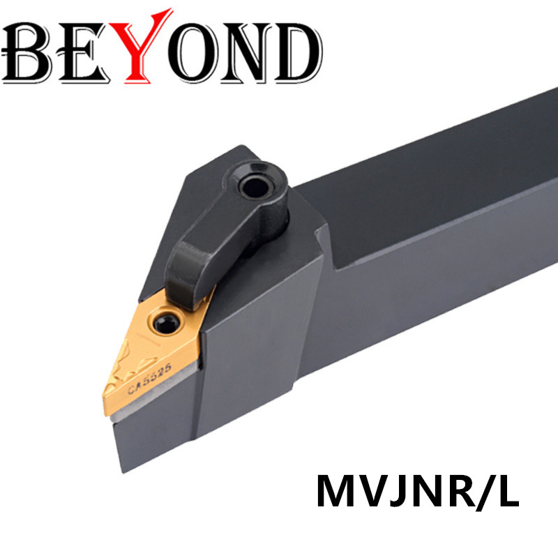 BEYOND MVJNR2020K16 External Turning Toolholder MVJNR1616H16 MVJNR2525M16 CNC Lathe Arbor Carbide Inserts Cutter VNMG160404/08