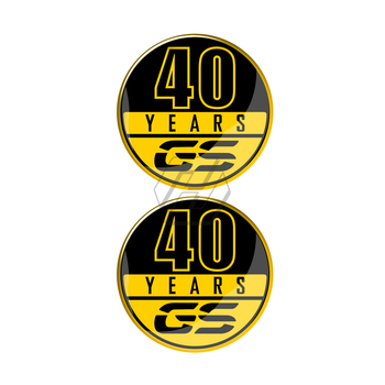 For BMW 40 Years GS Decals F700GS F800GS F850GS R1200GS R1250GS etc 40 Years GS Decals image