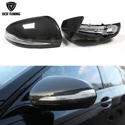 Suche węgla lustrzane osłony dla mercedes benz W205 W222 W213 W238 X205 Benz C S GLC E klasa węgla czapki 1:1 wymiana styl AMG|Lusterko i pokrowce|Samochody i motocykle -
