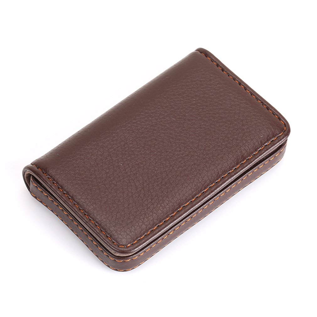 Portable Mini Magnetic Design Card Holder BagPackage PU Leather Card Case