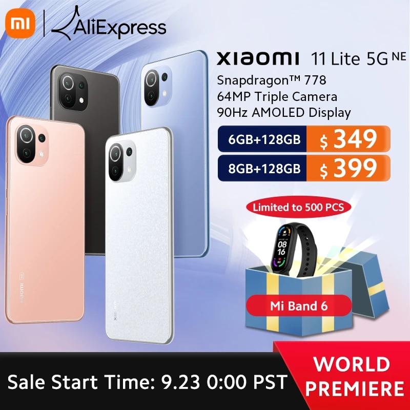 ?World Premiere?Global Version Xiaomi 11 Lite 5G NE Smartphone 6GB/8GB RAM 128GB ROM Snapdragon 778 Octa Core 64MP Camera 90Hz