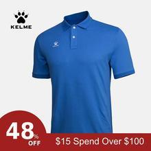 Футболка KELME, мужские футболки для гольфа, летняя тренировочная одежда для гольфа, Спортивная рубашка поло с коротким рукавом, уличные топы, футболки K15F117