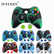 IVYUEEN Camo Protective Skin for Microsoft Xbox 360 Wired / Wireless Controller Silicone Case for X Box 360 Controle Cover
