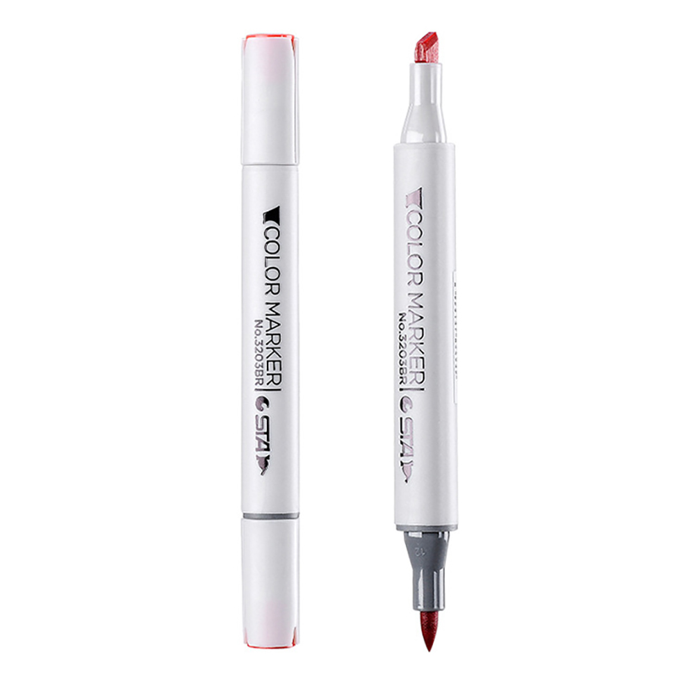 1 Pcs Optional 128 Colors Brush Pen Dual Headed Oily Alcohol Based Markers For Sketch Painting Drawing Of Professional Art