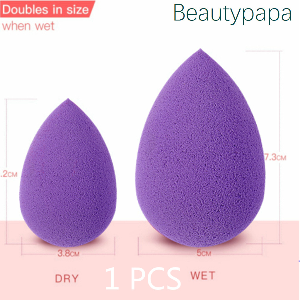 BeautyPaPa Purple Beauty Sponge Makeup Cosmetic Puff For Powder Smooth Foundation Concealer Applicator Super Soft(China)