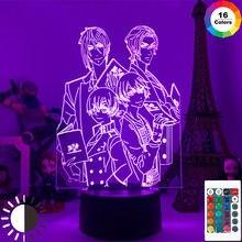 Noir Butler Figure D'anime Modèle 3D Lampe Ciel & Michaelis Figurines LED Veilleuse BRICOLAGE Décoration Anime Amoureux Cadeau Jouets