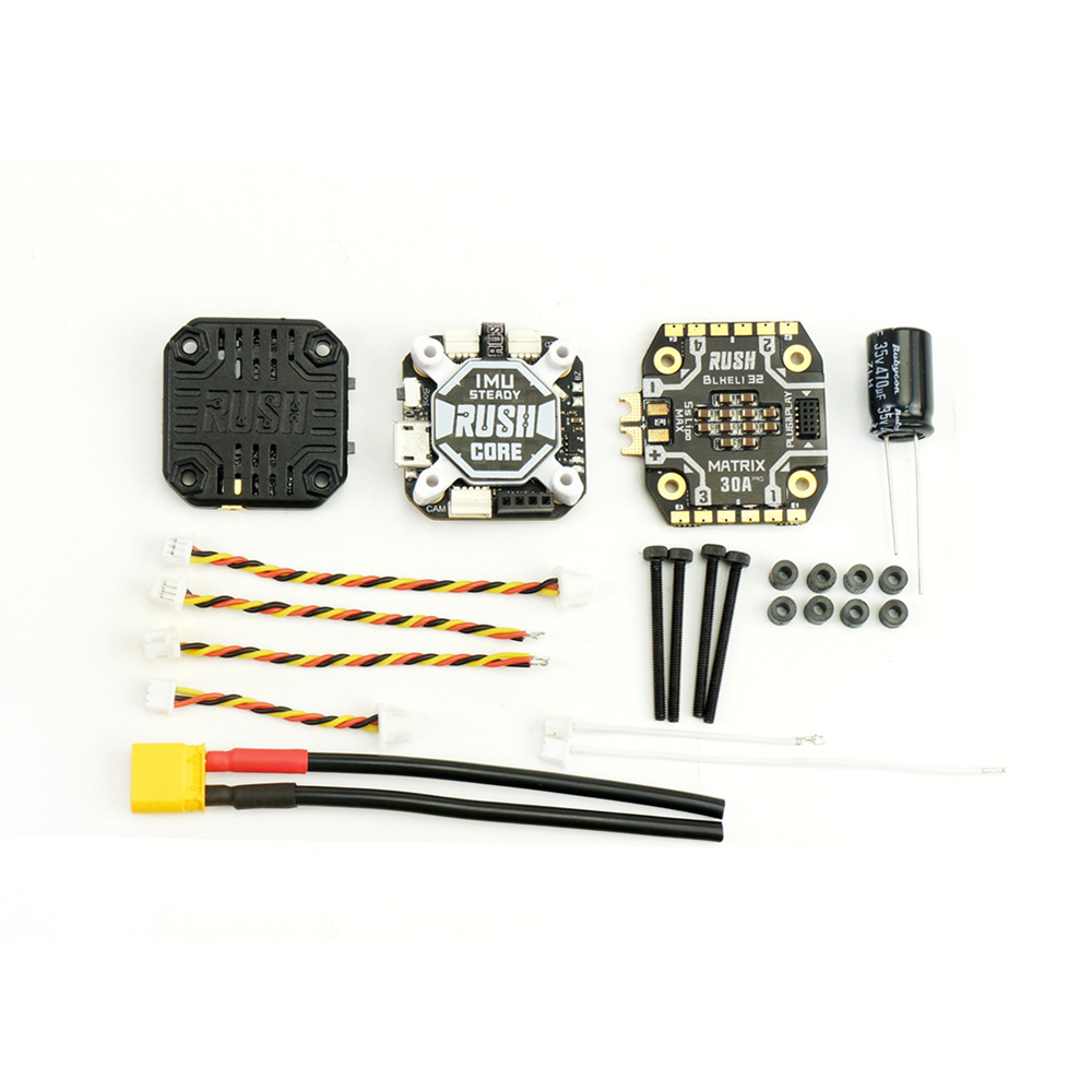 RUSH FPV TANK Stack RUSH CORE F7 & MATRIX 32bit 30A ESC FPV Combo Multi Rotor Parts For FPV Racing