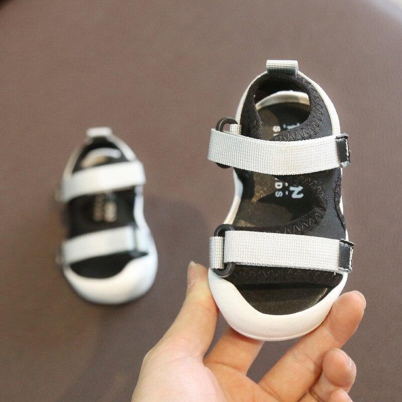 Image 3 - Summer Infant Toddler Sandals Baby Girls Boys Sandals Soft Bottom Comfortable Non slip Shoes Kids Anti collision sandalsSandals & Clogs   -