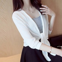 Women's Summer Loose Simple Casual Solid Color Three Quarter Sleeve T Shirt Comfortable Breathable Thin Knitwear Lace Up T-Shirt color block lace up t shirt