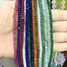 Charms Natural Stone Loose Beads for Jewelry Making 2x4mm Rubys Aquamarines Amazonite Opal Peridot Jewelry Accessories 14