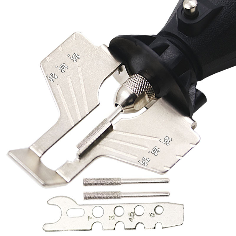 Chainsaw Sharpening Kit Electric Grinder Sharpening Polishing Attachment Set Saw Chains Tool PI669