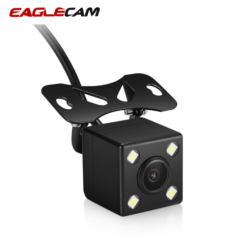 Backup Camera AV-IN Dash-Cam Aux-Stereo Rear-View Black Camcorder for Car DVR Dual-Recording title=
