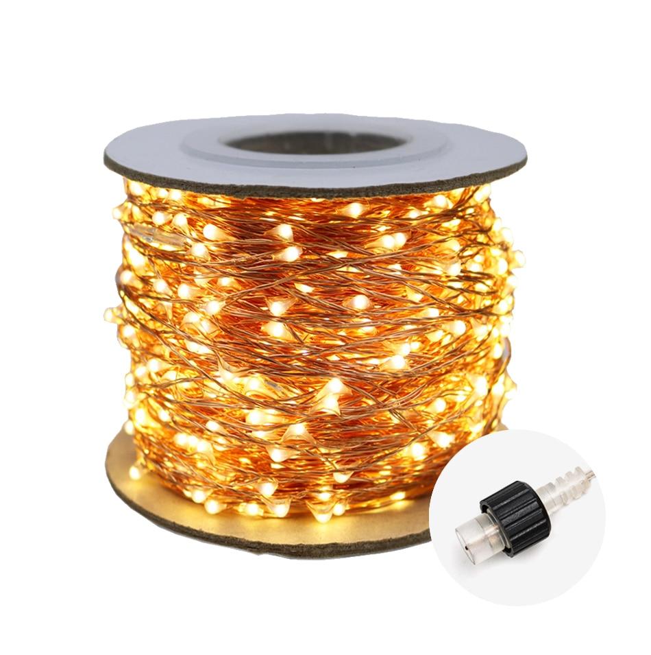 Luz led string decoração luzes do feriado