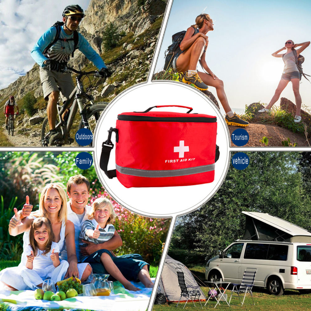Купить с кэшбэком OUTAD Nylon Striking Cross Symbol High-density Ripstop Sports Camping Home Medical Emergency Survival First Aid Kit Bag Outdoors