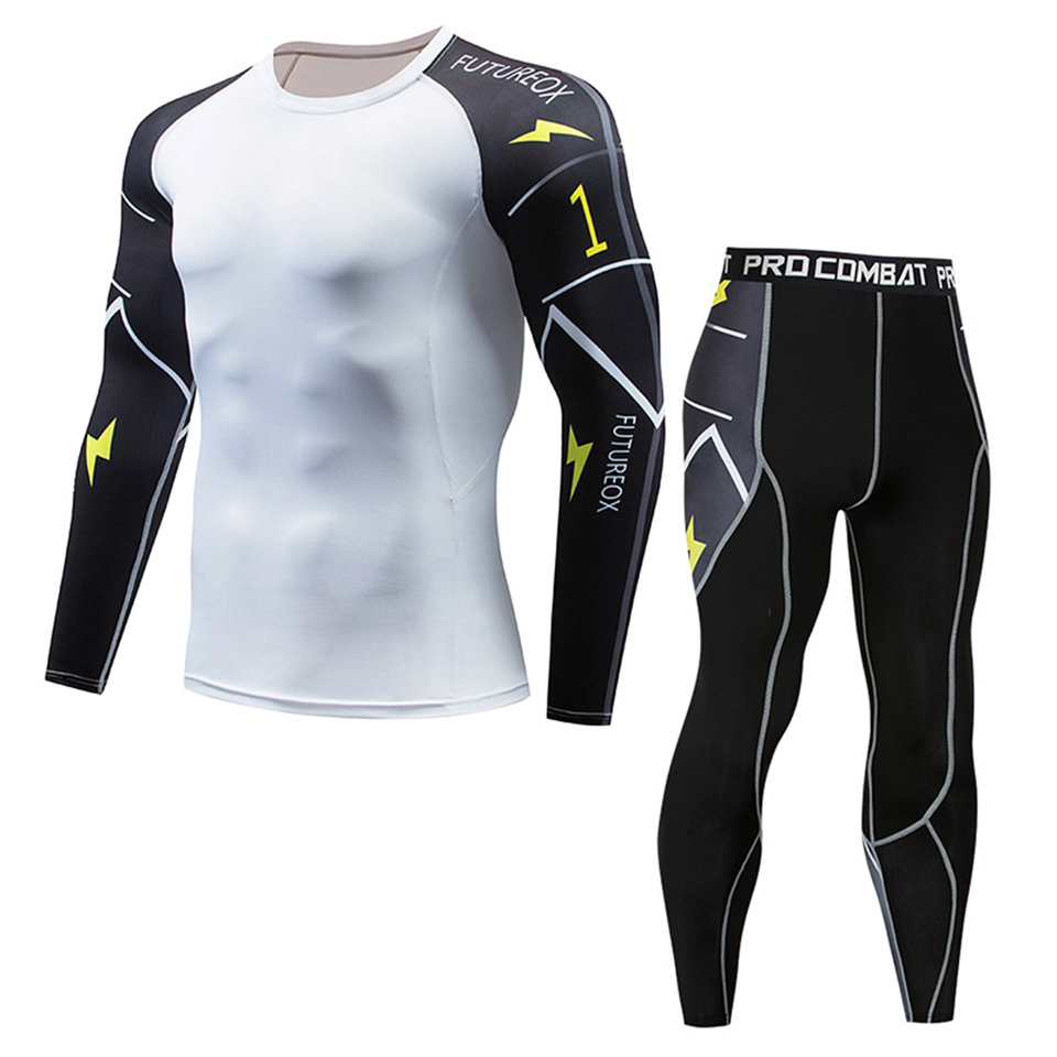 Rashagurd Bjj MMA Sportsuit MMA Clothing T-shirts+Pants Long Sleeve Muay Thai Boxing Jerseys Fight Compression Sport Gym Clothes