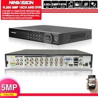 H.265 16CH 8CH 5MP AHD DVR grabadora de vídeo Digital para cámara de seguridad cctv Onvif red 16 canales IP HD 1080P NVR alarma de correo electrónico