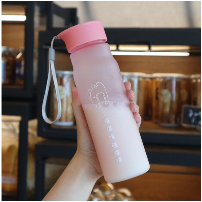 Hec05a7222d4d42548875b21b89a89fe3M Kettle 550ML plastic water dispenser travel student outdoor sports school portable leak-proof cup drinking water bottle