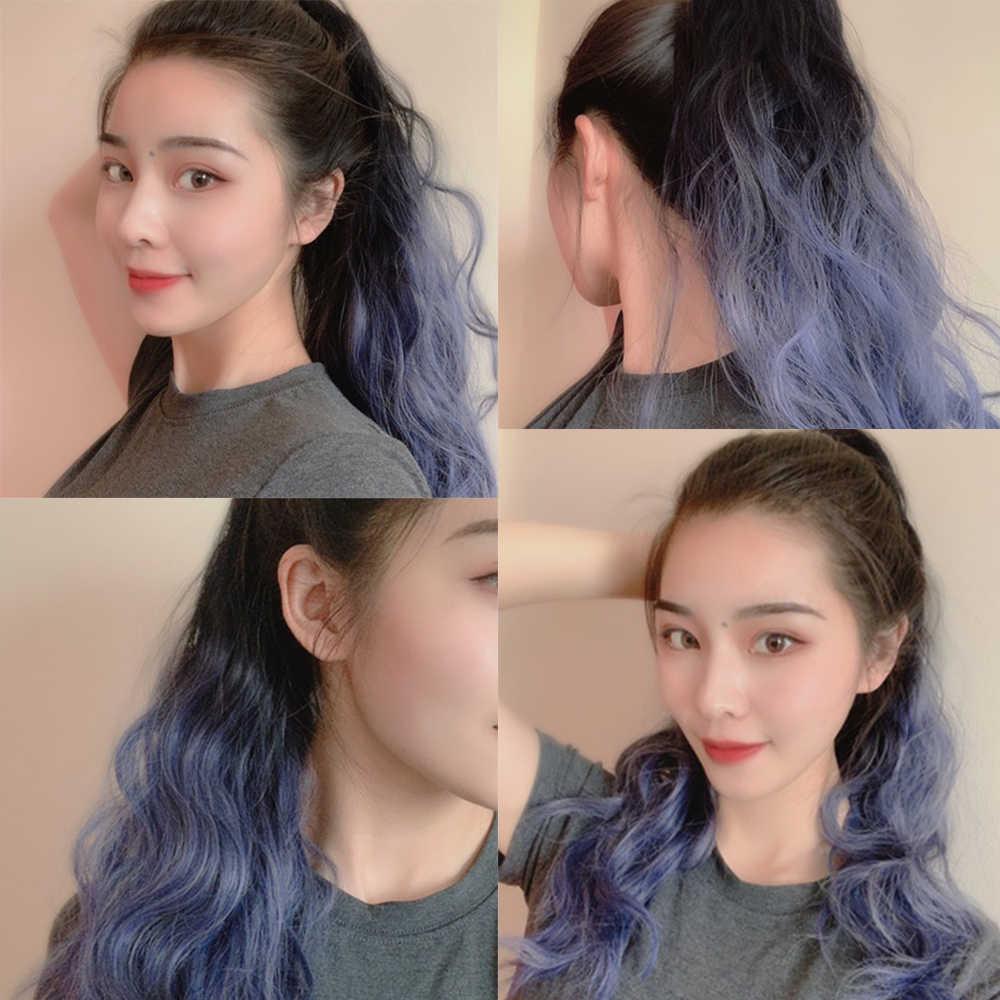 Aiyee Lint Klauw Golvend Paardenstaart Hair Extensions Mix Kleur Paardenstaart Roze Hittebestendige Synthetische Hair Extensions Paardenstaart Pruik