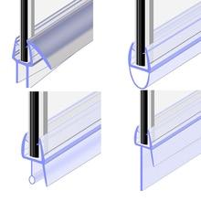 2M Shower Screen Seal Strip PVC Bath Shower Screen Door Seal Strip for 6 to 12mm Glass Seal Gap Window Door Weatherstrip #200