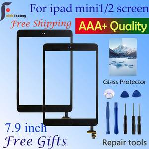 new For iPad Mini 1 Screen iPad Mini 2 Touch Screen A1432 A1454 A1455 A1489 A1490 A1491 Digitizer IC Cable Home Button(China)