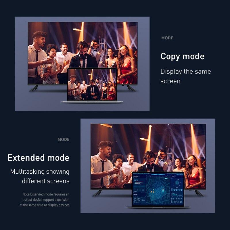 Image 4 - Baseus dp do hdmi kabel 4K z męskiego na męskie port wyświetlacza displayport do hdmi adapter do kabla do projektora PS4 PC konwerter hdtv przewód -