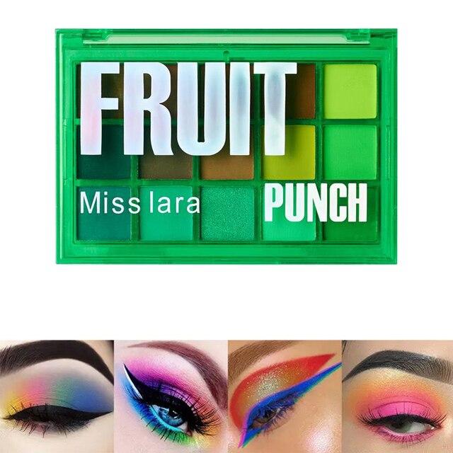 Miss lara Makeup Sweet Party Eyeshadow Pallete Neon Palette 15 Shimmer Glitter Matte Shades Matellic Nude Blendable Pigment 4
