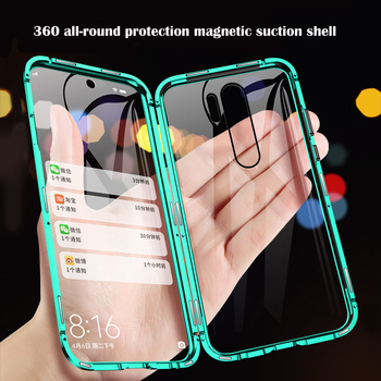 360 Full Protection Magnetic Case For Xiaomi Redmi 9 9A Note 8 7 9 9S 8T 10X K30 K20 8 Mi 9T 10 9 CC9 Pro F1 Max3 Double Glass