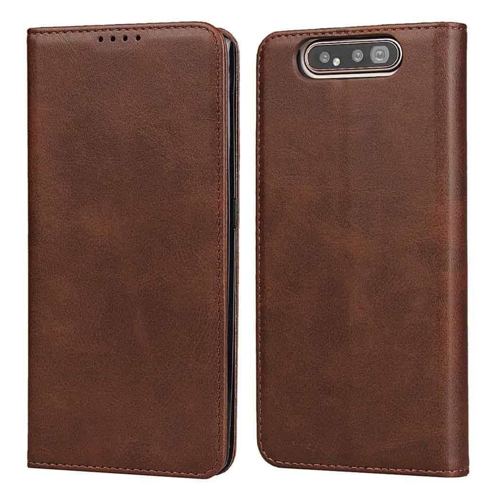 Leder fall für Samsung Galaxy A80 Flip fall karte halter Holster Magnetische anziehung Abdeckung Fall Brieftasche Fall