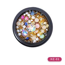 Nail Polish Bagged Pearl Mixed Japanese Phototherapy Nail Polish Adhesive Diamond Ball Strip Decoration(China)
