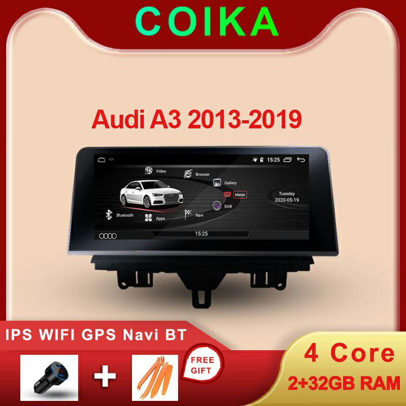 COIKA Android 10 System Car Multimedia Player For Audi A3 2013-2019 WIFI 2+32GB RAM BT Google IPS Screen GPS Navi Stereo image