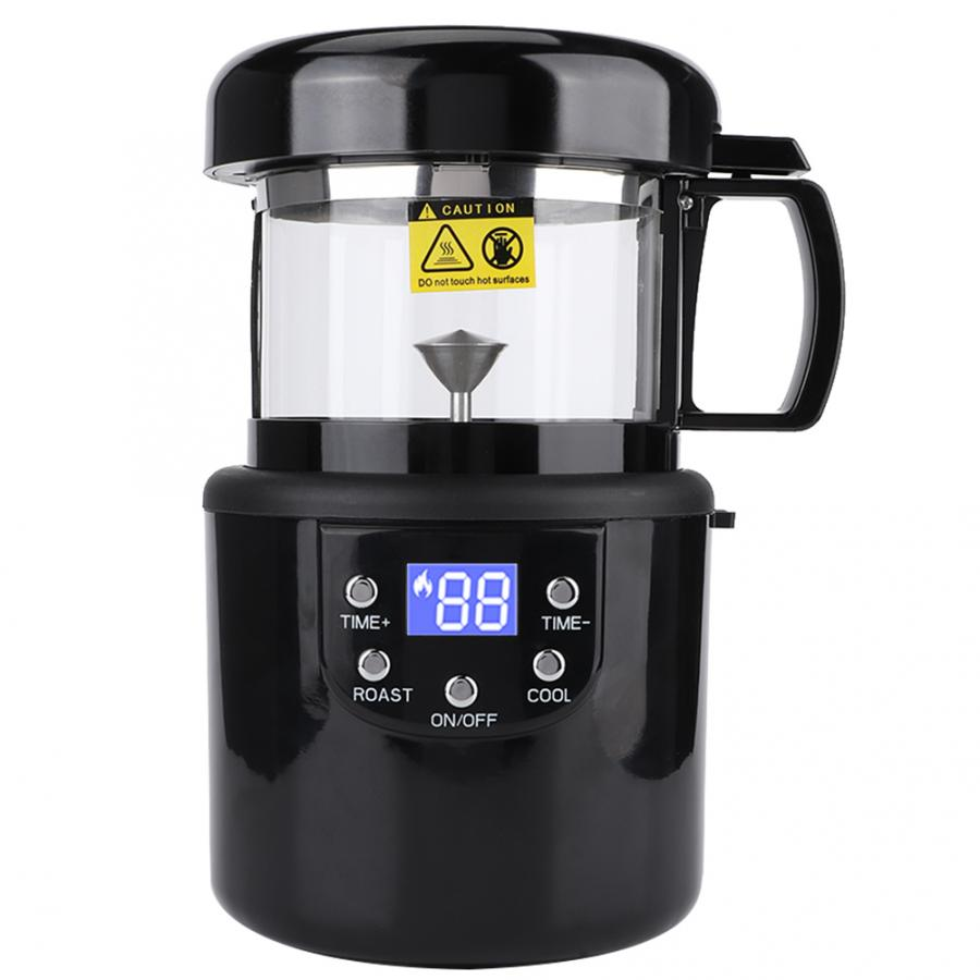 Home Coffee Roaster Electric Mini No Smoke Coffee Beans Baking Roasting Machine EU Plug 220V 1400W(China)