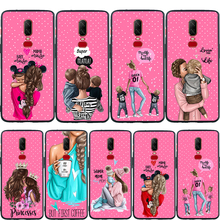 Super Mama Baby Mouse Girl Boy Queen Phone Case For Oneplus 7 Pro 6T 6 5 5T Coque Etui Soft Silicone Protective