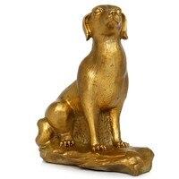 Chinese Style Brass Lucky Dog Art Sculpture Chinese Zodiac Dog Statue Animals Figurine Brass Art&Craft Home Decoration R2647