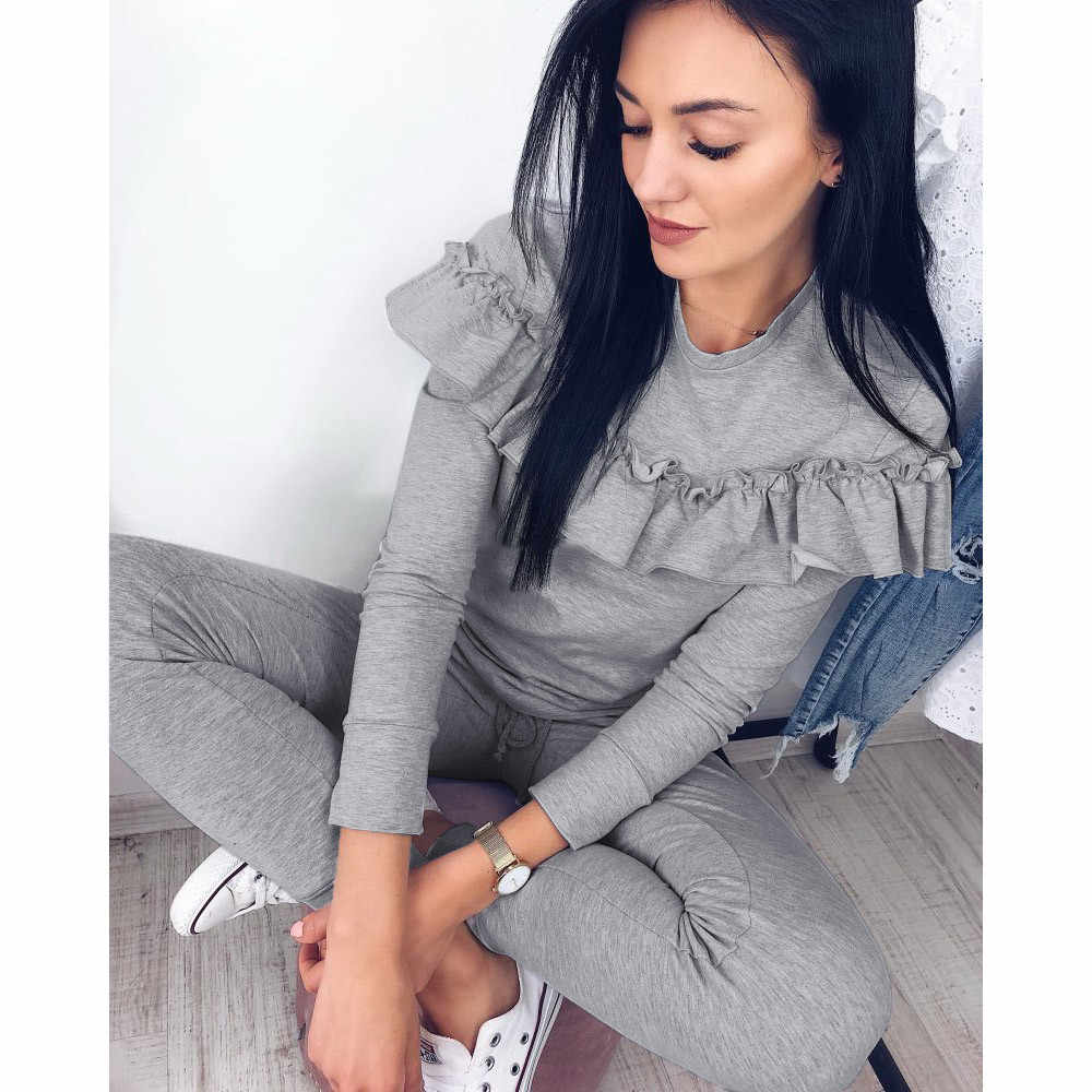 Women two piece set Sexy Tops + pants 2 piece set female women Casual 2 pieces sets tracksuits womens two piece sets 2019 #725