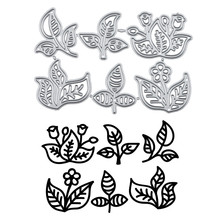 DiyArts Leaf and Flower Dies Metal Cutting for Card Making Scrapbooking Embossing Cuts Stencil Craft